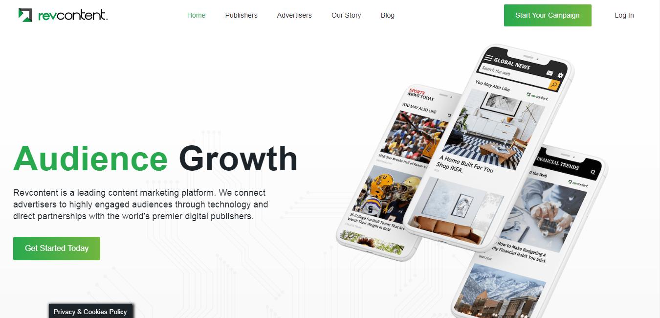 revcontent homepage