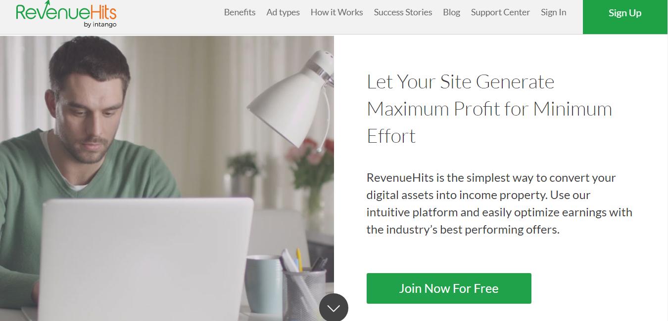 revenuehits homepage