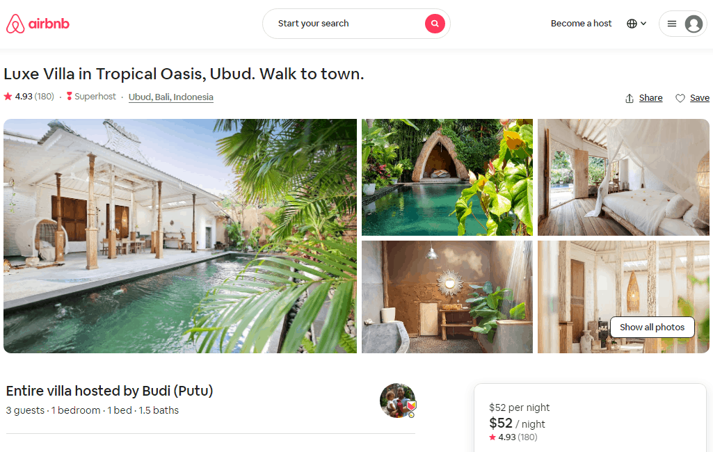 collection of some airbnb's photographies
