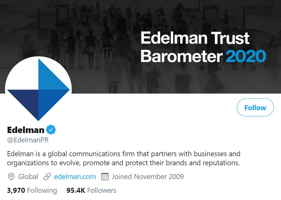 edelman twitter account