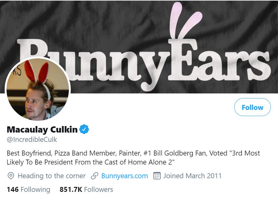 macaulay culkin twitter account