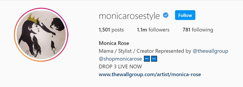 monica rose instagram account