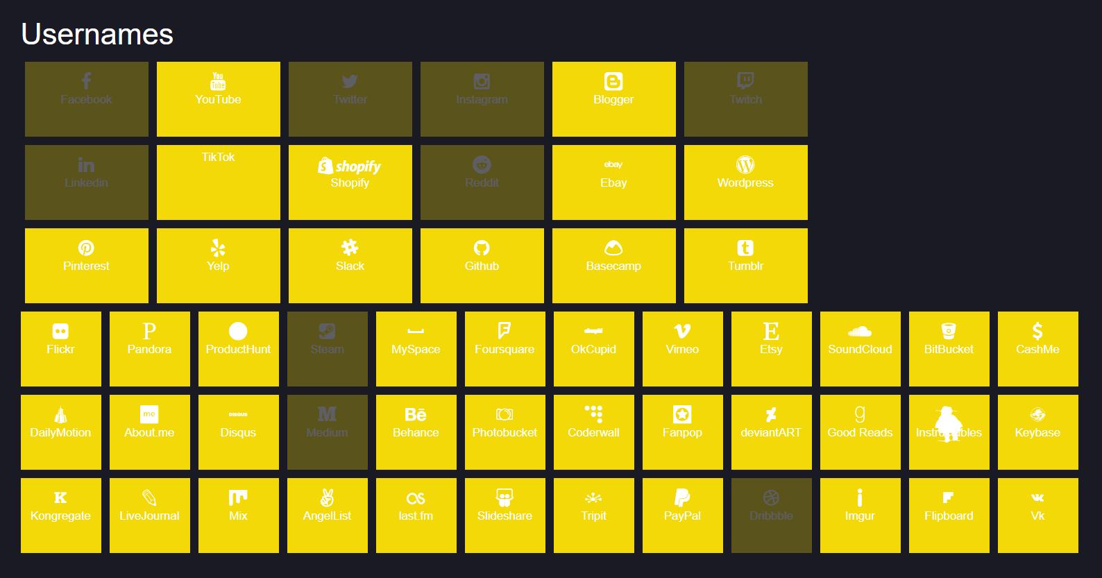 namechk handle availability checker online tool