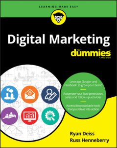 Digital Marketing for dummies book cover