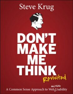 Steve Krug don't make me think revisited book cover