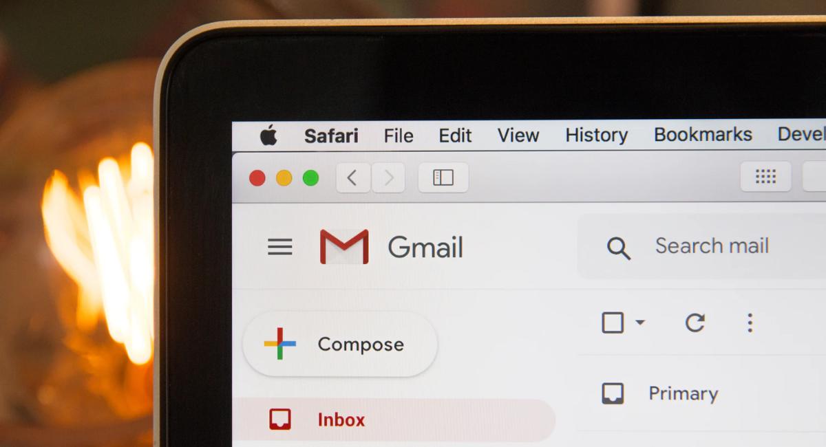 Gmail screen on a macbook