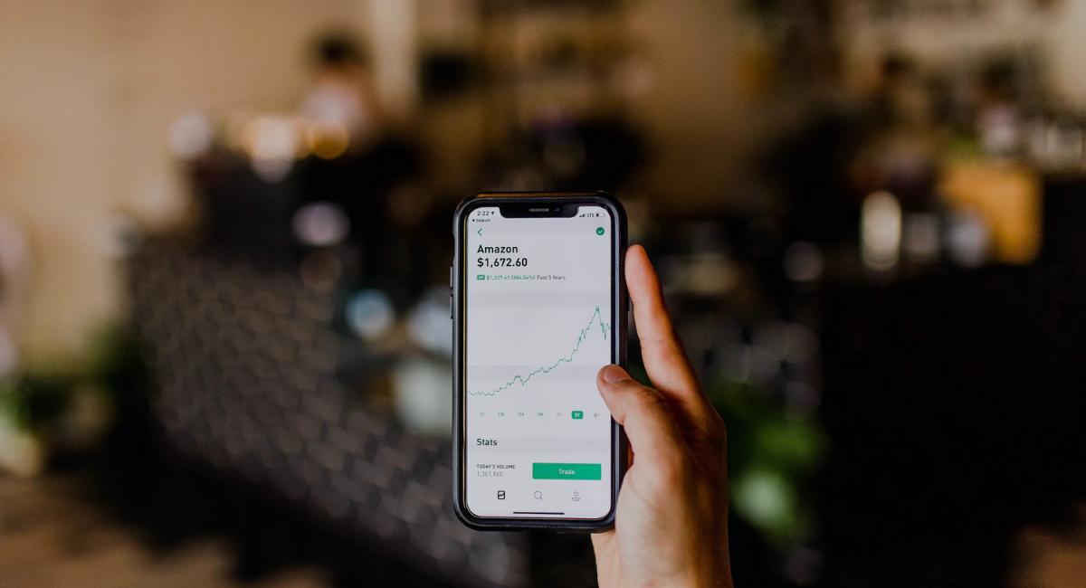 Amazon stocks displayed on an app