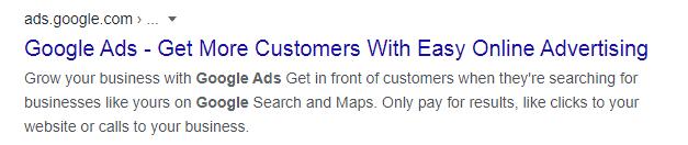 google ads copy benefits